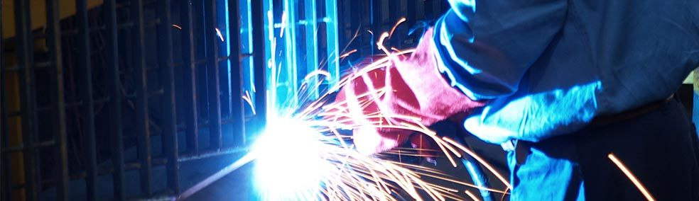 Welding at fabrication shop