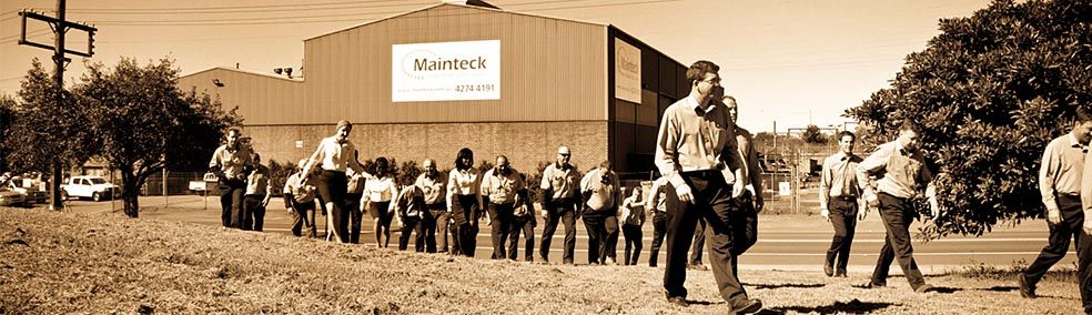 Mainteck staff outside their Port Kembla division.