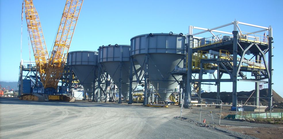 Cement Australia - Silo Bases awaiting installation