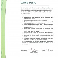 WHSE Policy