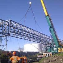 Orica gantry demolition 1
